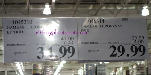 Game of Thrones Season 5 Costco Price | Frugal Hotspot