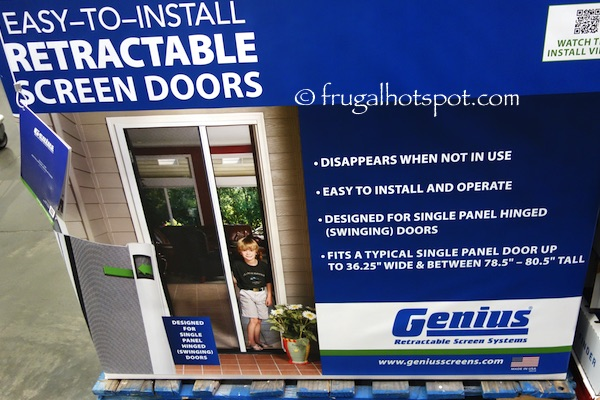 Superbe Genius Retractable Screen Door System Costco | Frugal Hotspot