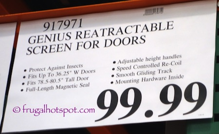 Costco Genius Retractable Screen Door System 99 99