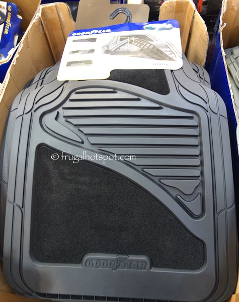 Costco Sale: Goodyear Carpet Rubber Car Floor Mat 4-Pc $13.99