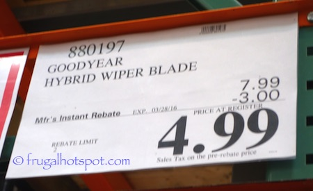 Goodyear Hybrid Wiper Blade Costco Price | Frugal Hotspot
