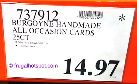 Burgoyne Handmade All Occasion Cards 25-Count Costco Price | Frugal Hotspot