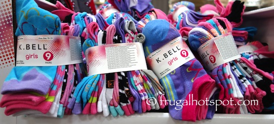 K. Bell Kid's Combed Cotton Socks 9-Pair Girls/Boys Costco| Frugal Hotspot