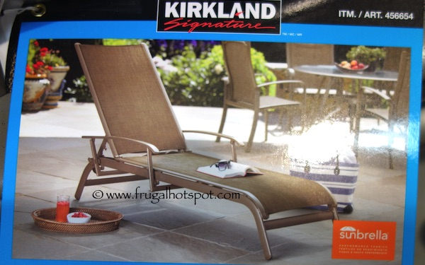 Kirkland Signature Commercial Sling Chaise Lounge Costco Frugal Hotspot