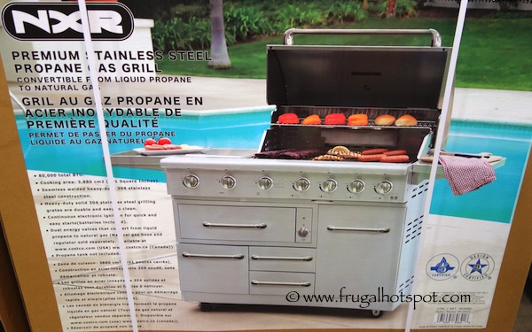 NXR 7-Burner Premium Stainless Steel Propane Gas Grill Costco | Frugal Hotspot