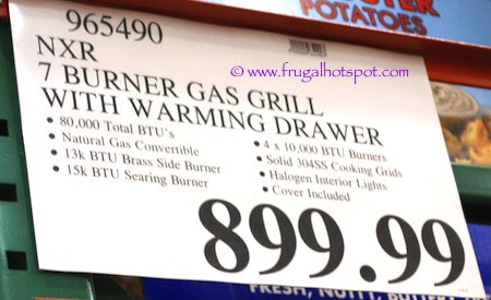 NXR 7-Burner Premium Stainless Steel Propane Gas Grill Costco Price | Frugal Hotspot