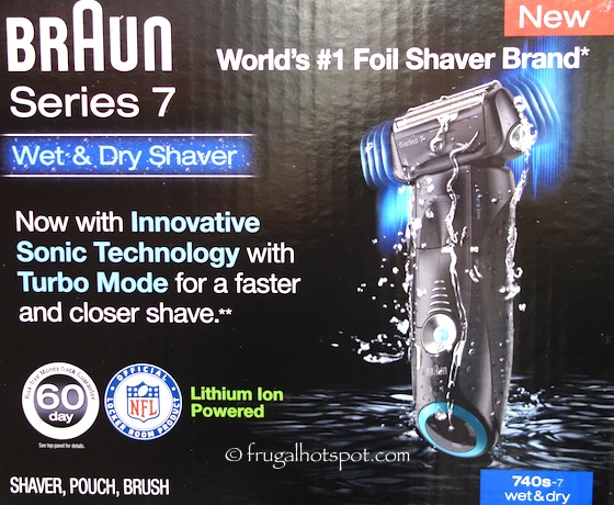 Braun Series 7 Wet & Dry Shaver (Model 740s-7) Costco | Frugal Hotspot