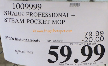 Shark Professional Steam Pocket Mop Costco Price | Frugal Hotspot
