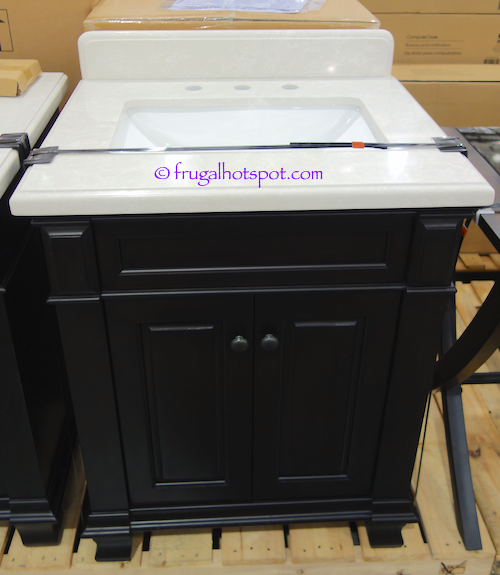 """28"""" Wood Vanity with Single Porcelain Sink Costco 