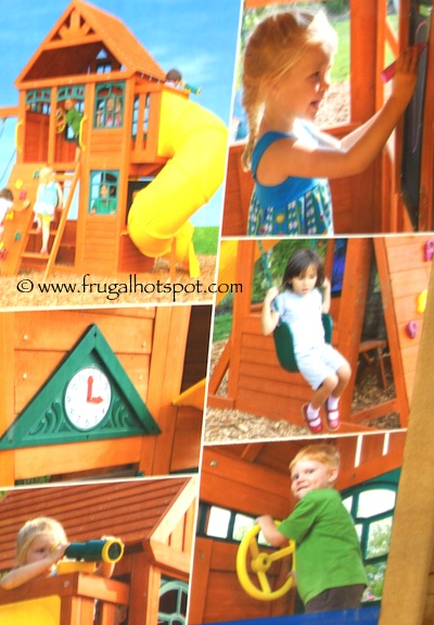 Cedar Summit Solowave Twin Mountain Lodge Cedar Playset Costco | Frugal Hotspot