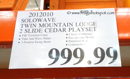 Cedar Summit Solowave Twin Mountain Lodge Cedar Playset Costco Price | Frugal Hotspot