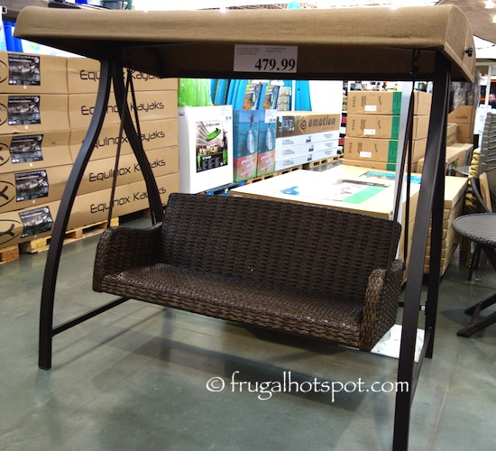 Agio International 3-Person Woven Patio Swing Costco | Frugal Hotspot