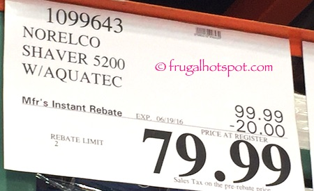 Norelco Shaver 5200 with Aquatec Costco Price | Frugal Hotspot