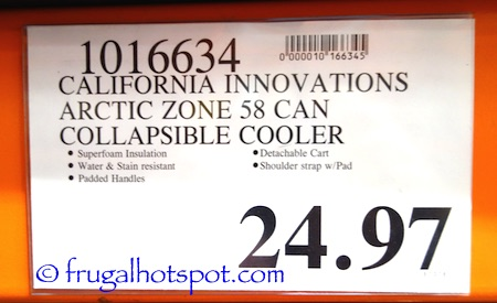 California Innovations Arctic Zone Ultra 58-Can Collapsible Rolling Cooler Costco Price | Frugal Hotspot