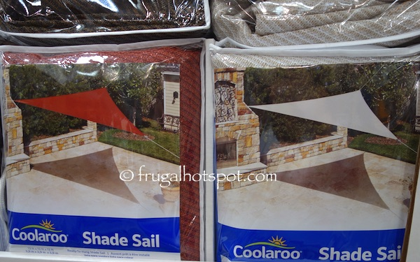 Coolaroo Shade Sail 13' Triangle Costco | Frugal Hotspot