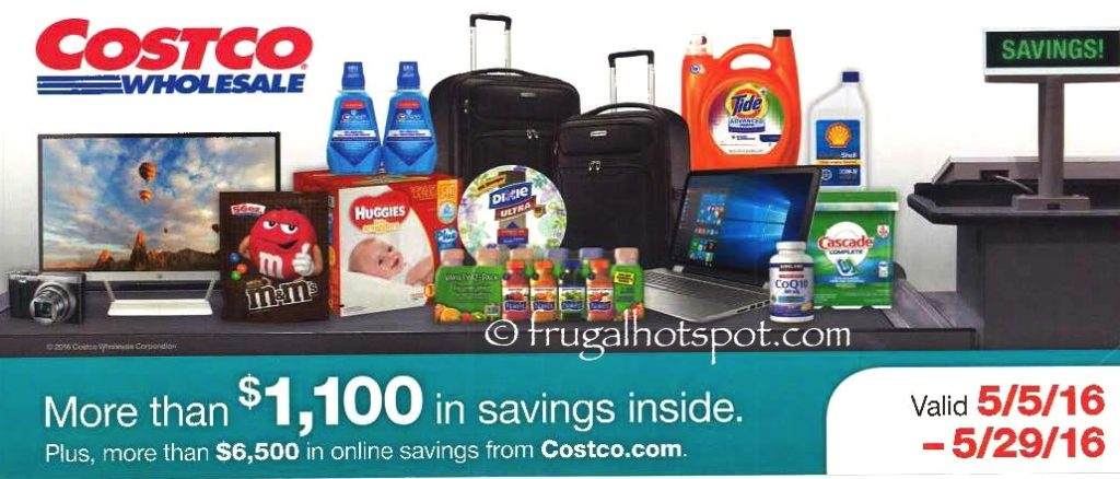 Costco Coupon Book May  5, 2016 - May 29, 2016. Cover. Frugal Hotspot.