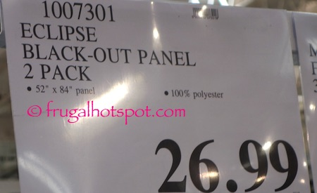 Eclipse Black-Out Panel 2-Pack Costco Price | Frugal Hotspot