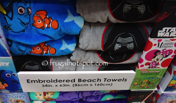 "Embroidered Beach Towel 34"" x 63"" Assorted Characters Costco 