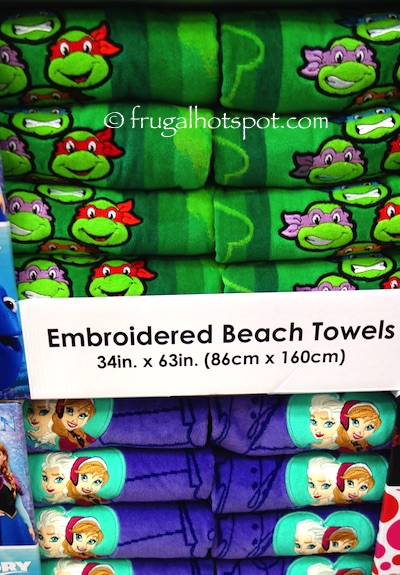 """Embroidered Beach Towel 34"""" x 63"""" Assorted Characters Costco 