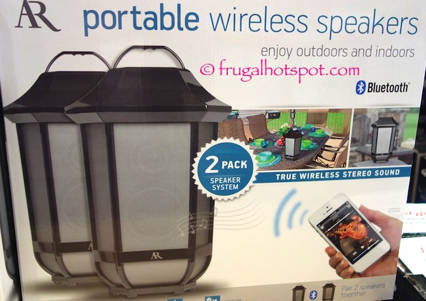 Acoustic Research Glendale Portable Wireless Speaker 2 Pack Costco Frugal Hotspot
