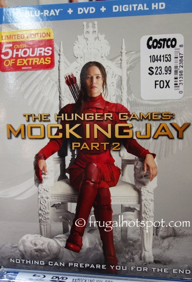 The Hunger Games: Mockingjay Part 2 Blu-ray + DVD + Digital HD Movie Costco | Frugal Hotspot