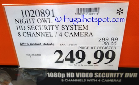 Night Owl HD Surveillance System Costco Price | Frugal Hotspot
