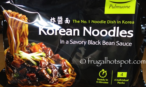 Pulmuone Korean Noodles in a Savory Black Bean Sauce Costco | Frugal Hotspot