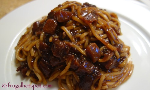 Pulmuone Korean Noodles in a Savory Black Bean Sauce | Frugal Hotspot