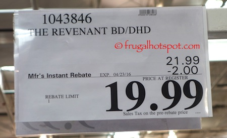 The Revenant Blu-ray + Digital HD Costco Price | Frugal Hotspot