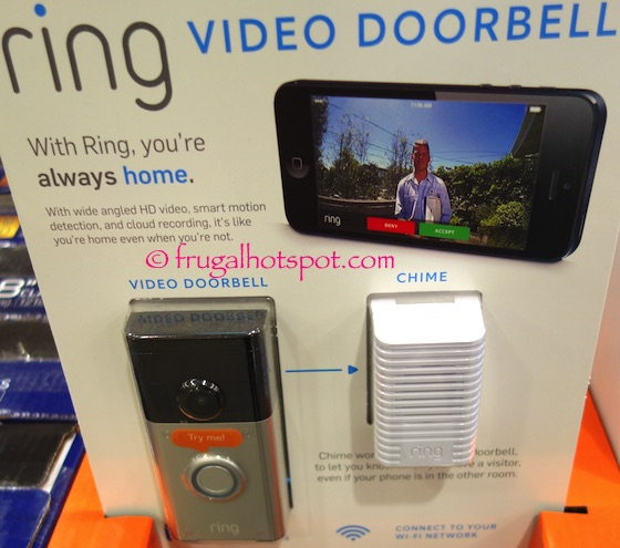 Ring Video Doorbell and Wireless Chime Costco | Frugal Hotspot