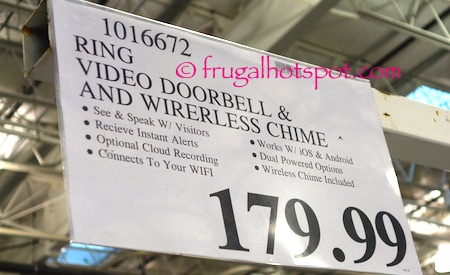 Ring Video Doorbell and Wireless Chime Costco Price | Frugal Hotspot