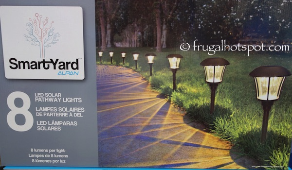 Smartyard Solar LED Large Pathway Lights 8-Pack Costco | Frugal Hotspot