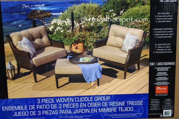 Sunvilla Palmetto Collection 3-Piece Woven Cuddle Group Set Costco | Frugal Hotspot