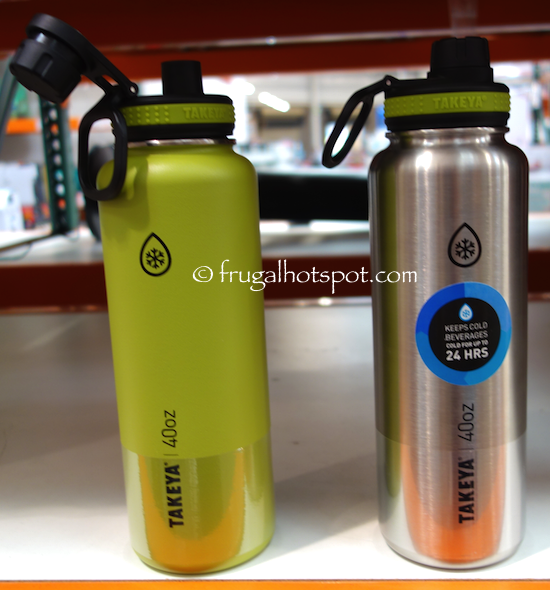 Takeya ThermoFlask Stainless Steel Water Bottles 2-Pack Costco | Frugal Hotspot