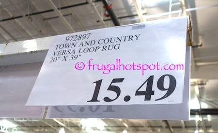 """Town and Country Versa Loop Rug 20"""" x 39"""" Costco Price 
