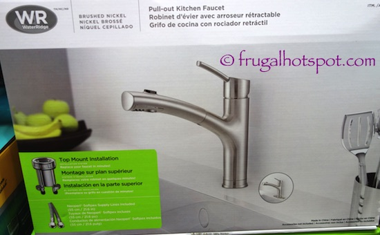 costco sale water ridge euro style pull out kitchen water ridge kitchen faucet tonette series brushed nickel
