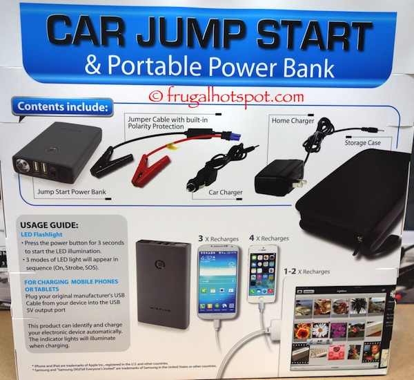 Winplus Car Jump Start and Portable Power Bank Costco | Frugal Hotspot