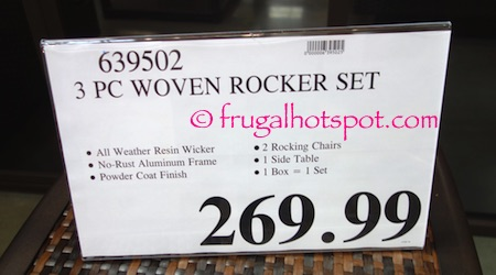 3-Piece Woven Rocker Set Costco Price | Frugal Hotspot