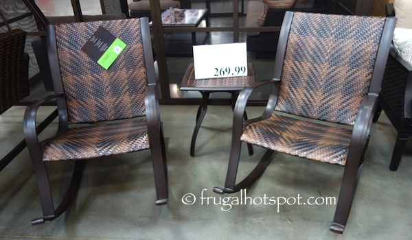 3-Piece Woven Rocker Set Costco | Frugal Hotspot