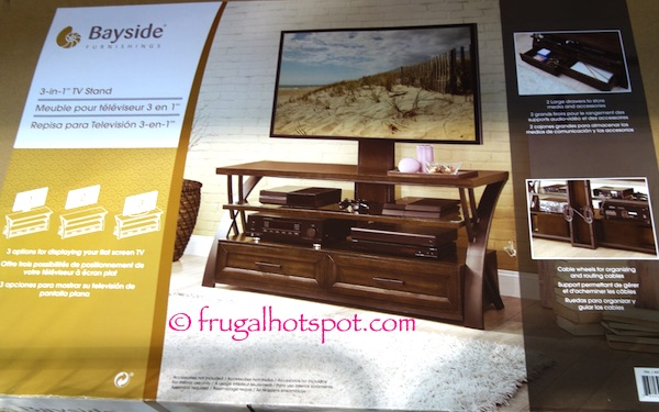 Bayside Furniture 3-in-1 TV Stand Costco | Frugal Hotspot