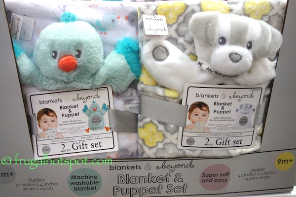 Lux Blankets & Beyond Blanket & Puppet 2-Piece Gift Set Costco | Frugal Hotspot