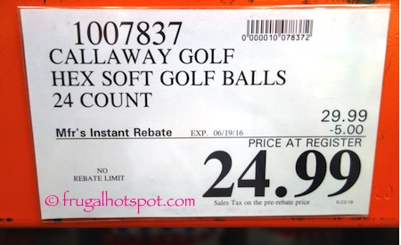 Callaway Hex Soft Golf Balls 24-Pack Costco Price | Frugal Hotspot