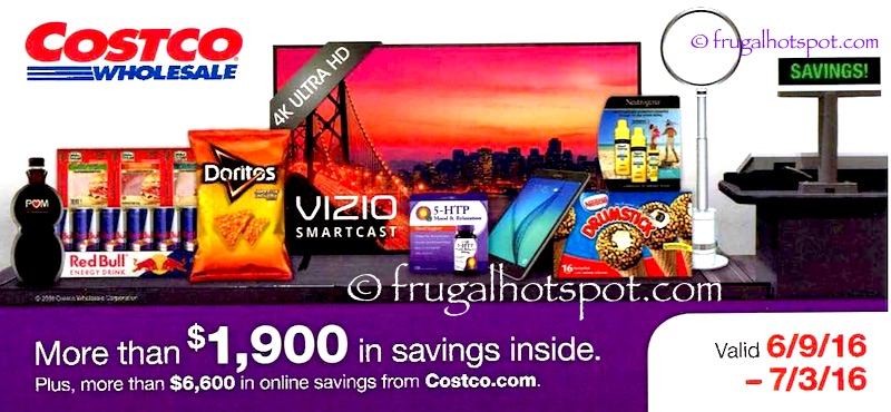 Costco Coupon Book: June 9, 2016 - July 3, 2016. Cover | Frugal Hotspot