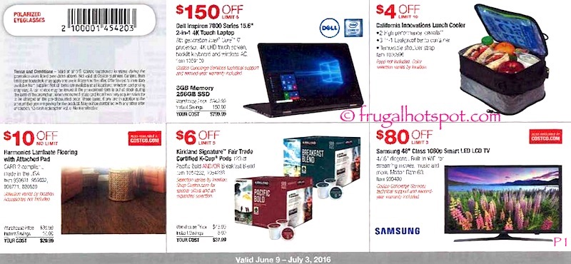 Costco Coupon Book: June 9, 2016 - July 3, 2016. Page 1. | Frugal Hotspot