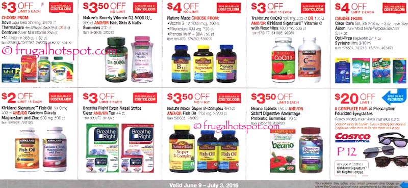 Costco Coupon Book: June 9, 2016 - July 3, 2016. Page 12. | Frugal Hotspot