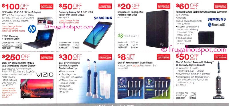 Costco Coupon Book: June 9, 2016 - July 3, 2016. Page 3. | Frugal Hotspot