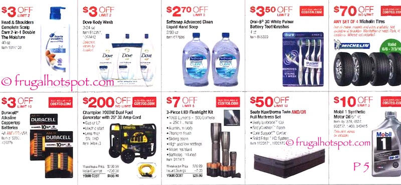 Costco Coupon Book: June 9, 2016 - July 3, 2016. Page 5. | Frugal Hotspot