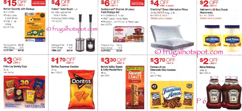 Costco Coupon Book: June 9, 2016 - July 3, 2016. Page 6. Frugal Hotspot