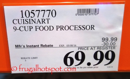 Cuisinart Prep 9-Cup Food Processor Costco Price| Frugal Hotspot