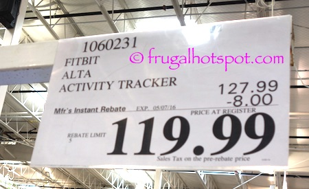 Fitbit Alta Fitness Wristband Activity Tracker Costco Price | Frugal Hotspot